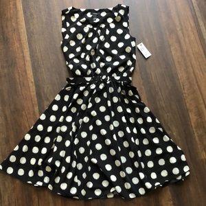 NWT - black and white polka dot dress